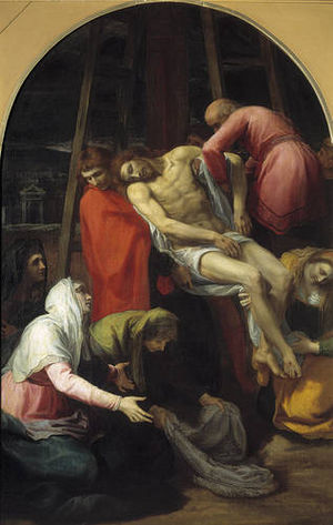 Bartolomeo Carducci - Descent from the Cross by Bartolomeo Carducci, Museo del Prado, 1595