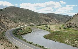 De Humboldt River in de Carlin Canyon