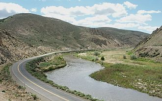 Humboldt River - The Humboldt River, flowing through Carlin Canyon
