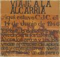 Carlos Chacón (1973) Zorita de los Canes, cerámica conmemorativa de Viaje a la Alcarria.png
