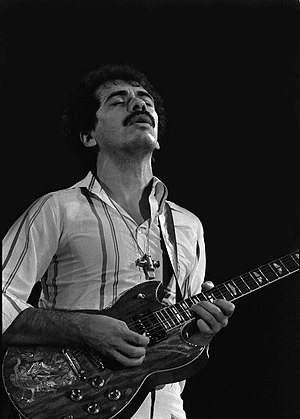 "Carlos Santana - Santana during his ""inner secrets"" tour in the Netherlands in 1978"