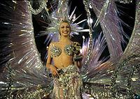 Candidata a Reina del carnaval de Tenerife