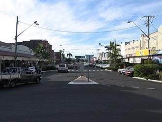 Casino, New South Wales - Walker Street shopping precinct in Casino