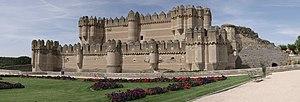 Coca, Segovia - View of Coca Castle.