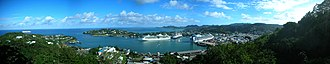Castries - Panorama of the Port of Castries from Morne Fortune