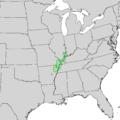 Catalpa speciosa range map 2.png