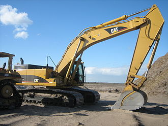 Caterpillar 345C L - A Caterpillar 345C L Excavator parked on a residential construction site in South Florida.