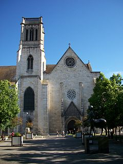 Agen Cathedral Church in Lot-et-Garonne, France
