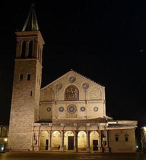 building in Spoleto, Italy