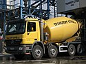 Cement mixer truck in Bulgaria.jpg