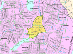 Census Bureau map of Harrington Park, New Jersey