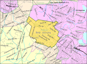 Census Bureau map of Madison, New Jersey.png