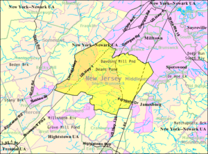 South Brunswick, New Jersey - Image: Census Bureau map of South Brunswick Township, New Jersey