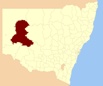 Central Darling Shire - Location in New South Wales