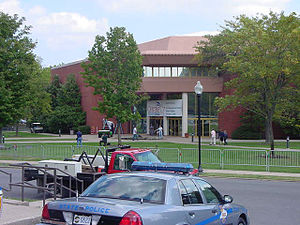 Centre College - Norton Center for the Arts, the morning of the 2000 Vice Presidential Debate between Dick Cheney and Joe Lieberman