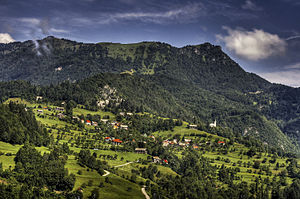Cerkno Hills - The Cerkno Hills and the village of Labinje, northeast of Cerkno