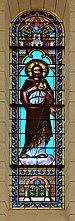 Chalais 16 Chapelle ND Vitrail Christ Dagrand 2013.jpg