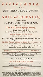 <i>Cyclopædia, or an Universal Dictionary of Arts and Sciences</i> UK 1728 encyclopedia