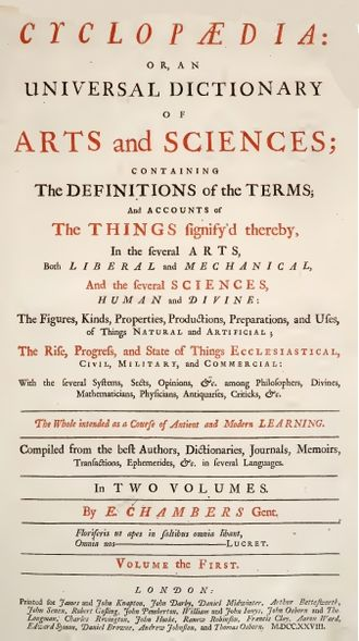 Cyclopædia, or an Universal Dictionary of Arts and Sciences - Ephraim Chambers Cyclopaedia (1728)