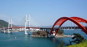 Sacheon - Image: Changsun Sachunpo Bridge 2