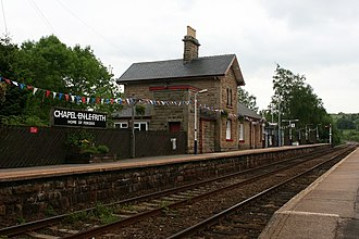 Chapel-en-le-Frith railway station - View looking east