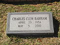 Charles C. Barham grave marker in Ruston, LA IMG 5702.JPG