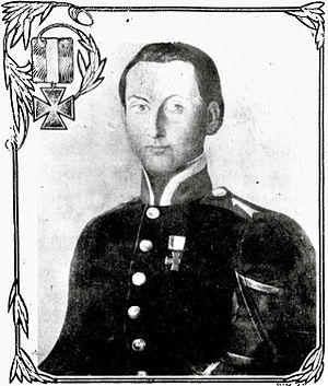 Charles Henry Wilcken - Illustration of Wilcken (depicted in a Prussian uniform, c. 1847) published in 1912 in the Deseret News