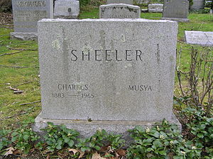 Charles Sheeler - The monument of Charles Sheeler in Sleepy Hollow Cemetery