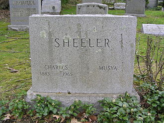 Charles Sheeler - The monument of Charles Sheeler (and Musya) in Sleepy Hollow Cemetery