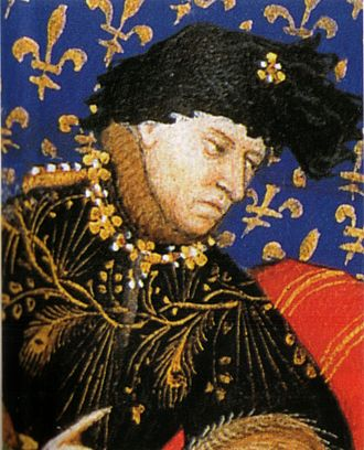 Charles VI of France - Charles VI by the painter known as the Master of Boucicaut (1412)