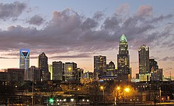 Charlotte, the largest city in both states