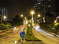Che Kung Miu Road at night.jpg