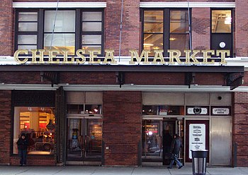 The Ninth Avenue entrance to Chelsea Market, i...