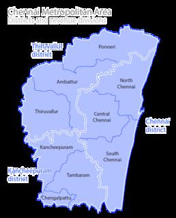 Chennai metropolitan area Metropolitan area in Tamil Nadu, India