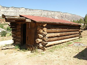 National Register of Historic Places listings in Moffat County, Colorado - Image: Chew Ranch garage NPS