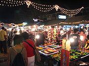 Auf dem Nachtbasar von Chiang Mai