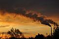 Chimney of powerplant, sunrise.jpg
