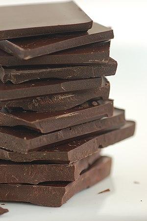 English: Dark chocolate. Español: Chocolate negro.