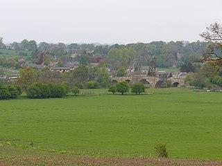 Chollerford village in United Kingdom