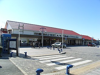 Chōshi Station - Chōshi Station exterior in January 2007