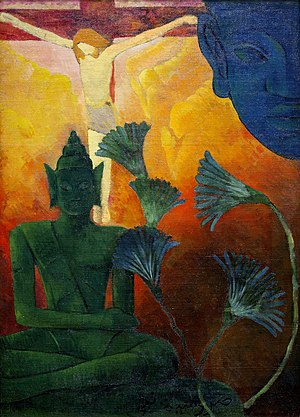 Gautama Buddha in world religions - Christ and Buddha by Paul Ranson, 1880
