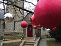Christmas decorations, St Thomas' Church, High Lane, Cheshire.jpg