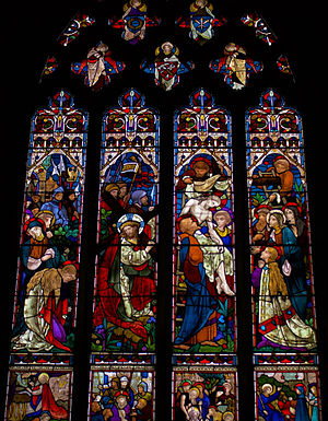 East Langton - Church Langton St Peter church stained glass by Heaton, Butler and Bayne