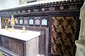 Church of St Andrew, Willingale, Essex, England - interior chancel altar and reredos.JPG
