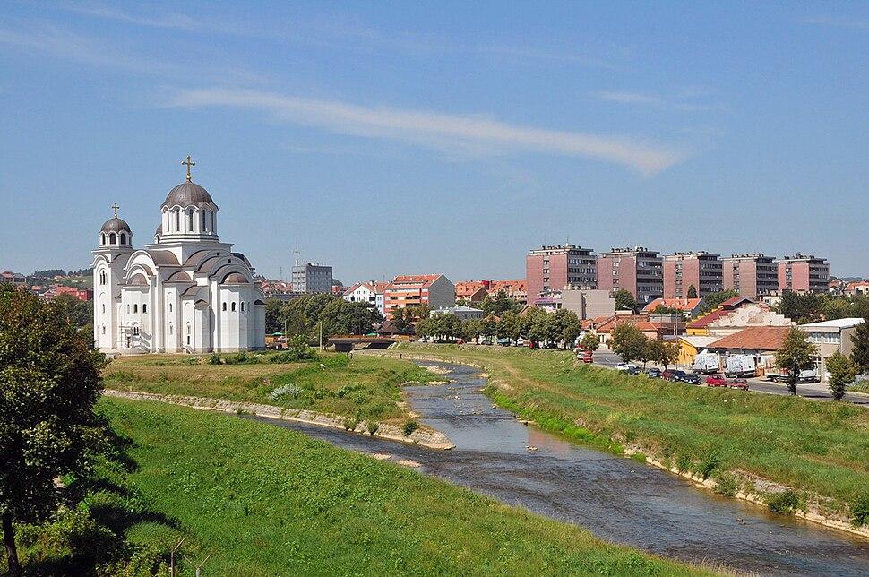 Church river Valjevo