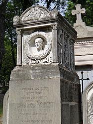 Louis Petitot: Pierre Cartellier's tomb