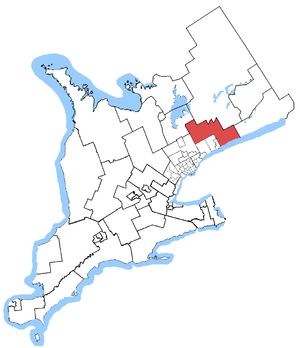Durham (provincial electoral district) - Durham in relation to other Greater Toronto Area electoral districts