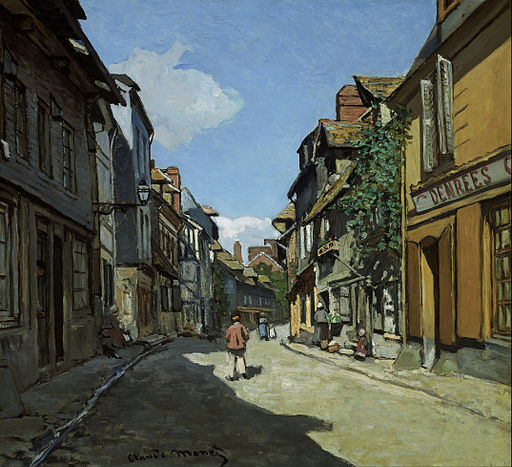 Claude Monet - Rue de la Bavole, Honfleur - Google Art Project