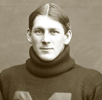 Eastern Michigan Eagles football - Clayton Teetzel in the 1897 Michigan football team photograph