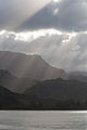 Clouds, sun beams, mountains ... life is good (8034624501).jpg